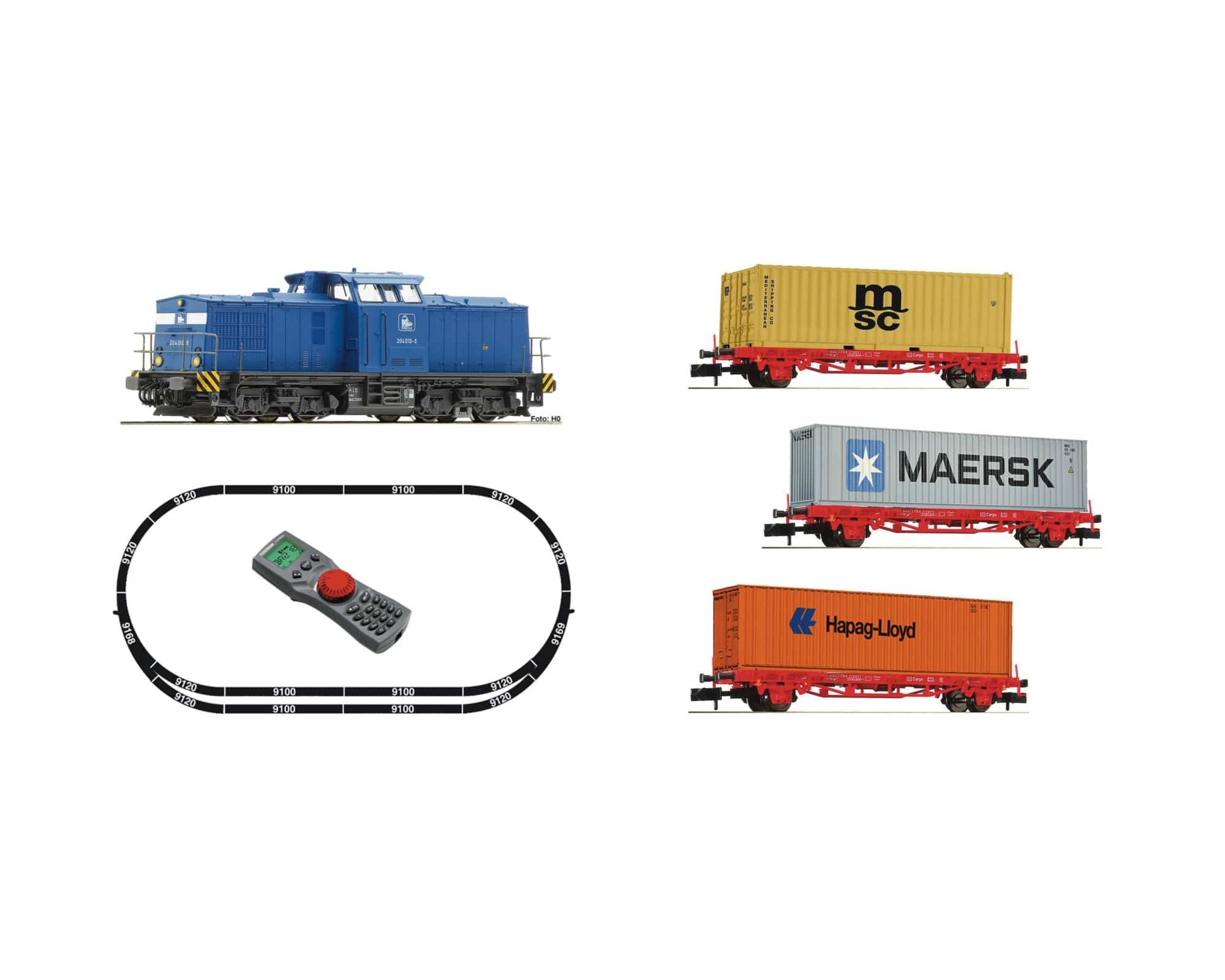 DIGITALES STARTSET: BR 204 MIT CONTAINERZUG, PRESS
