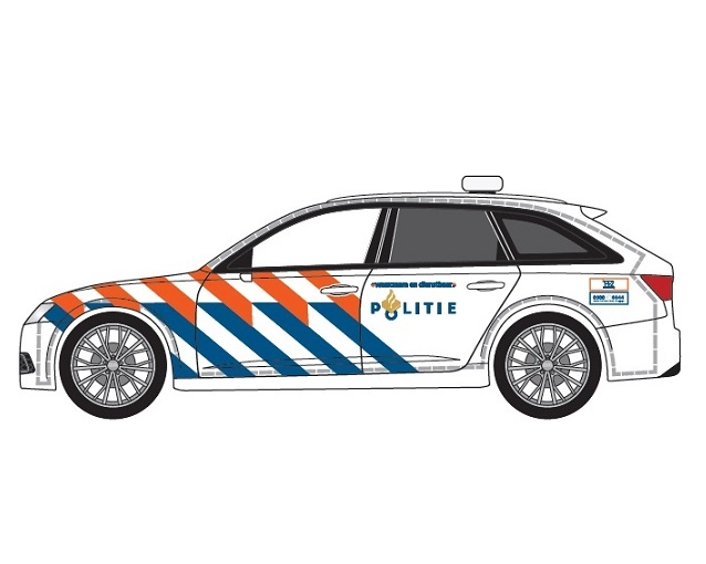 Herpa 941938 - AUDI A6 POLITIE OUDE STRIPING (NL)