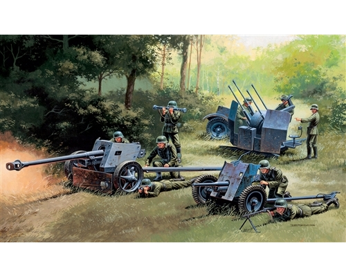 GERMAN GUNS SET: PAK35-PAK40-FLAK38
