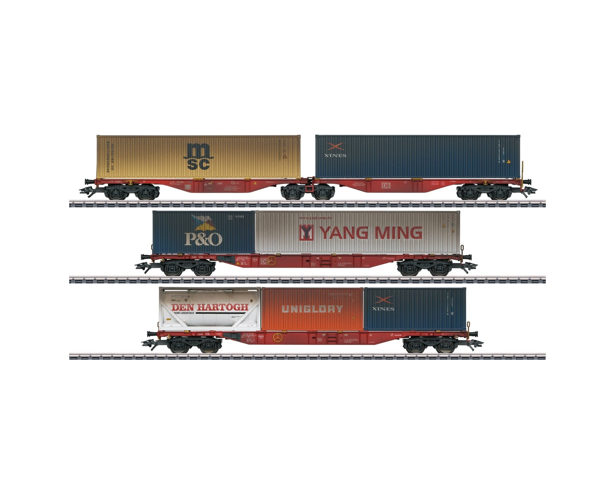 Märklin 47810 - CONTAINERWAGEN-SET DB AG