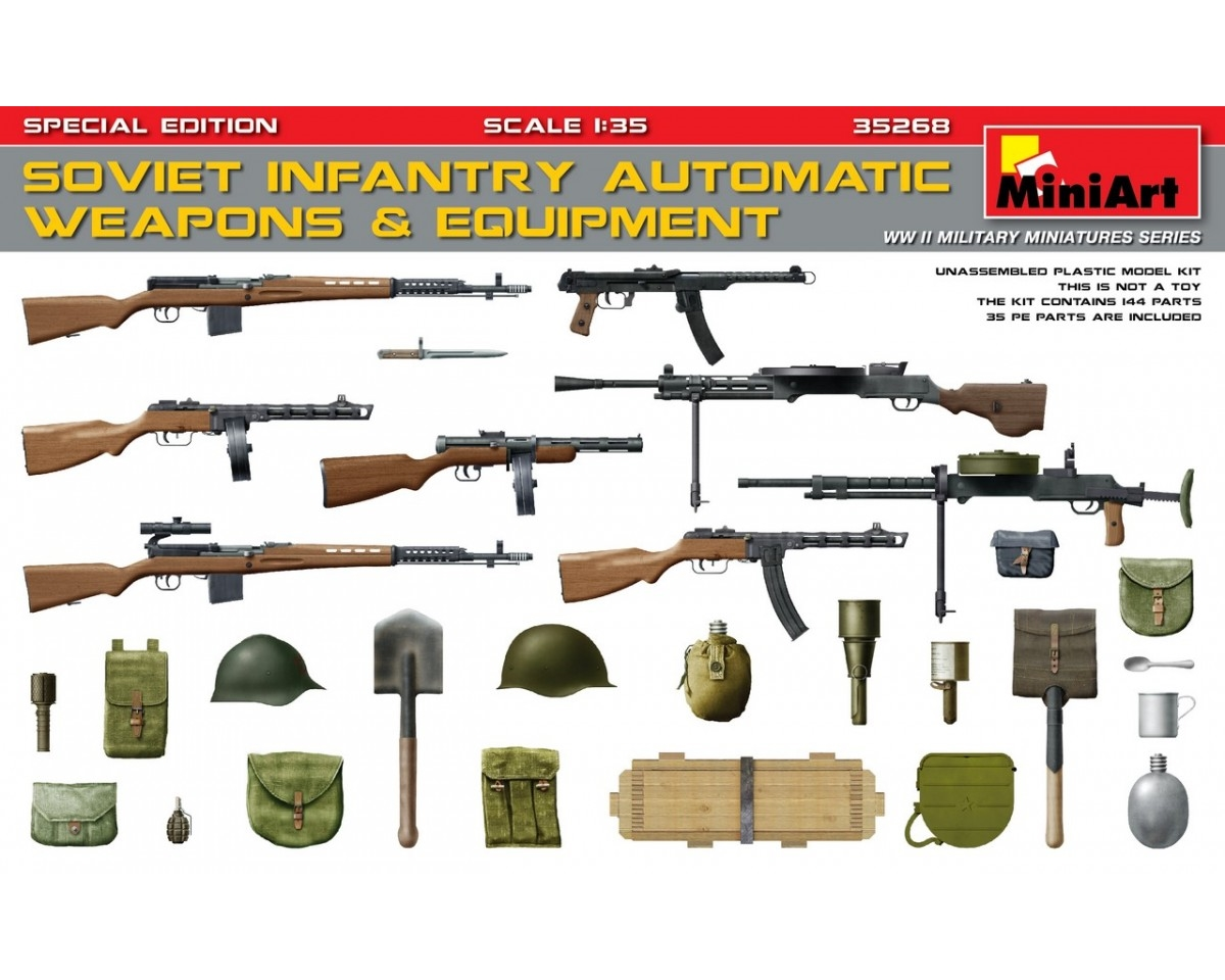 SOVIET  INFANTRY AUTOMATIC WEAPONS & EQUIPMENT. S.E.
